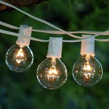 100 ft outdoor string lights string lights 100 ft commercial led globe green wire 2 in bulb cool