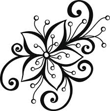 Design Black And White 14 Black And White Floral Designs Images Black And White Flower