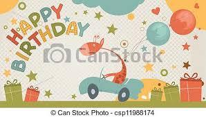 cute happy birthday card with giraffe birthday card with