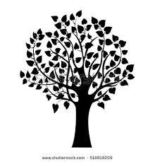 tree symbol abstract black tree isolated nature symbol stock vector 518819209