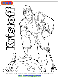 kristoff frozen coloring pages coloring