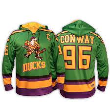 Mighty Ducks Flag Slapshot Movie Jerseys Hanson Brothers Charlestown Chiefs Hockey