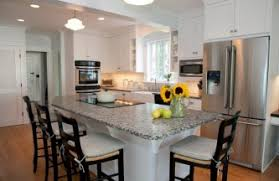 kitchen island designs with seating small country kitchen combined with overhang island design