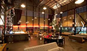 spacious rustic warehouse industrial cafe interior concept ideas