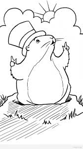 groundhog coloring pages timykids