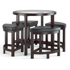 CorLiving Belgrove  Piece Counter Height Dining Table Set Dark - Kitchen table with stools underneath