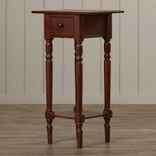 bedroom black tall nightstands with open shelf and drawer for
