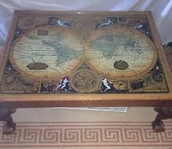 Map Coffee Table Vintage Map Of The World Glass Coffee Table Ebay