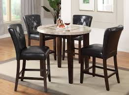Round Espresso Dining Table Espresso 3 Piece Pub Round Dining Set Montreal Rc Willey