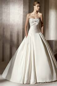 designer wedding gowns gown ruched top pleated satin designer wedding gowns