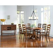 oval single pedestal dining table with extension leaf by aamerica