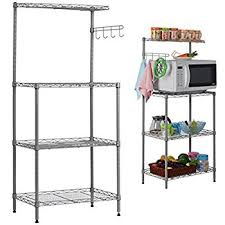 Storage Bakers Rack Amazon Com Aries 3 Tier Bakers Rack Utility Microwave Stand
