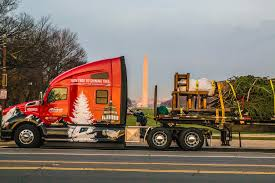 kenworth truck centre capitol christmas tree delivered by a kenworth truck
