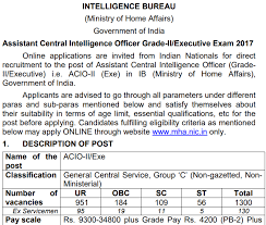 Acio 2017 Results Official Notification Ib Acio Answer 2017 Ib Intelligence Officer Solution W3i In