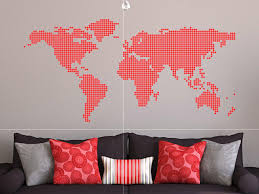 World Map Wall Sticker by Art World Map Wall Decal Ideas