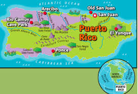 Old San Juan Map Puerto Rico By Franklin Spanish