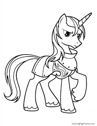 my little pony u2013 prince shining armor 01 coloring page coloring