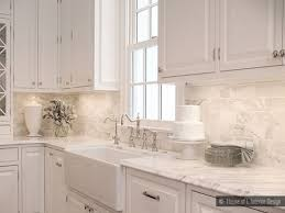 Marble Kitchen Backsplash Marble Subway Tile Kitchen Backsplash Carrara Tile Amys Office