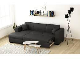 canapé avec coffre canapé d angle fuji xl convertible avec coffre tissu gris