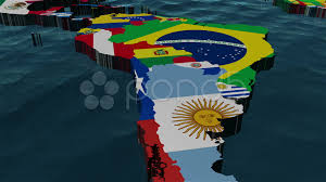 3d Map Of The World by 3d Map Of Latin America Stock Image Image 13549741 Realistic