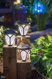 Solar Light For Fence Post - solar landscape lighting ideas with yard lights powered outdoor