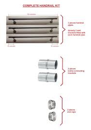 stairs staircase handrail banister rail support kit 3 6m stainless