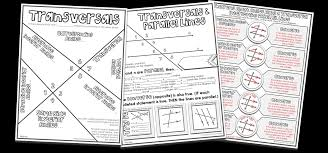 fun activities for parallel line theorems u0026 angle pairs along