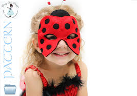 ladybug mask pattern instant download sewing pattern for
