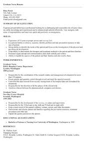 resume examples new grad rn resume template objective