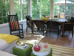 Dining Room  Chic Vintage Sunroom Dining Design With Rustic White - Sunroom dining room