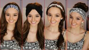hairstyles with haedband accessories video cool headbands head wraps for girls women hair accessories