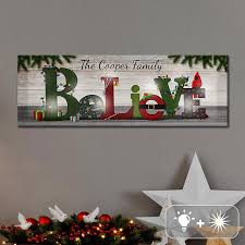Wall Decor Canvas Personalized Christmas Canvases And Wall Decor At Personal Creations
