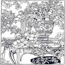 difficult flower coloring pages coloring home