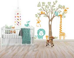 Safari Nursery Wall Decals Jungle Safari Wall Decal Lime Wall Decor Safari Wall Decals
