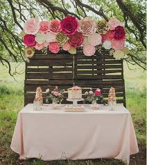 backdrop for baby shower table large paper flower backdrop baby shower paper flower backdrop