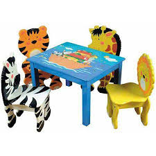 kids animal table and chairs animal chairs for children child and woods