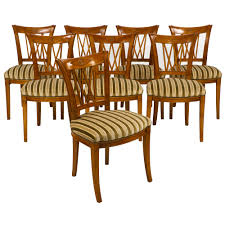 Striped Dining Room Chairs French Antique Directoire Style Chairs Jean Marc Fray