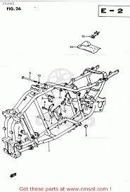 suzuki lt250ef 1985 f frame schematic partsfiche