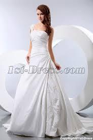 wedding dress discount discount one shoulder taffeta wedding dress for women