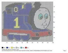 thomas train amy u0027s plastic canvas patterns