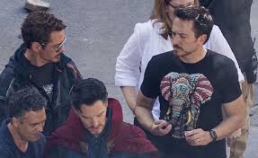 even in a motion capture suit robert downey jr is more stylish