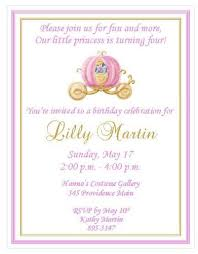 12 printed cinderella personalized birthday invitations several