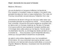 Lettre De Demande De Visa En Anglais lettre de demande de visa pour le canada par lettreutile
