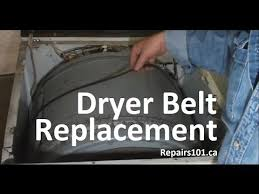dryer belt replacement youtube