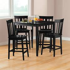 Black Wooden Dining Table And Chairs Mainstays 5 Piece Counter Height Dining Set Cherry Walmart Com