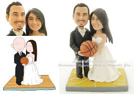 customized wedding cake toppers basketball wedding cake toppers customized wedding figruines