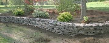 Rock Garden Beds Rock Retaining Wall And Flower Beds Salem Nh Labrie