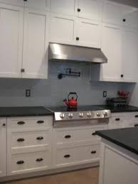 Kitchens With Black Countertops Kitchen Exquisite White Shaker Kitchen Cabinets With Black