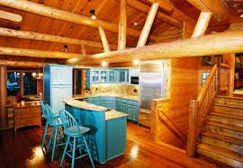 Log Home Kitchen Cabinets - captivating room additions to log homes using painted kitchen