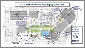westfield mall map westfield valley fair expansion plans feature bloomingdale s